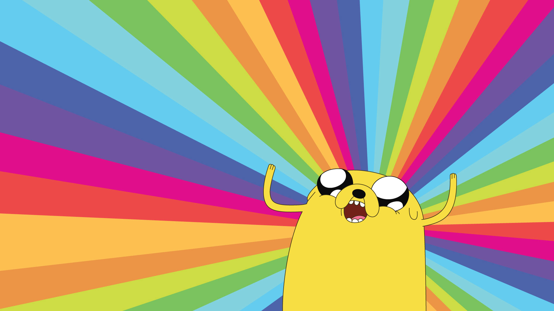 Adventure Time Colorful rainbow wallpaper