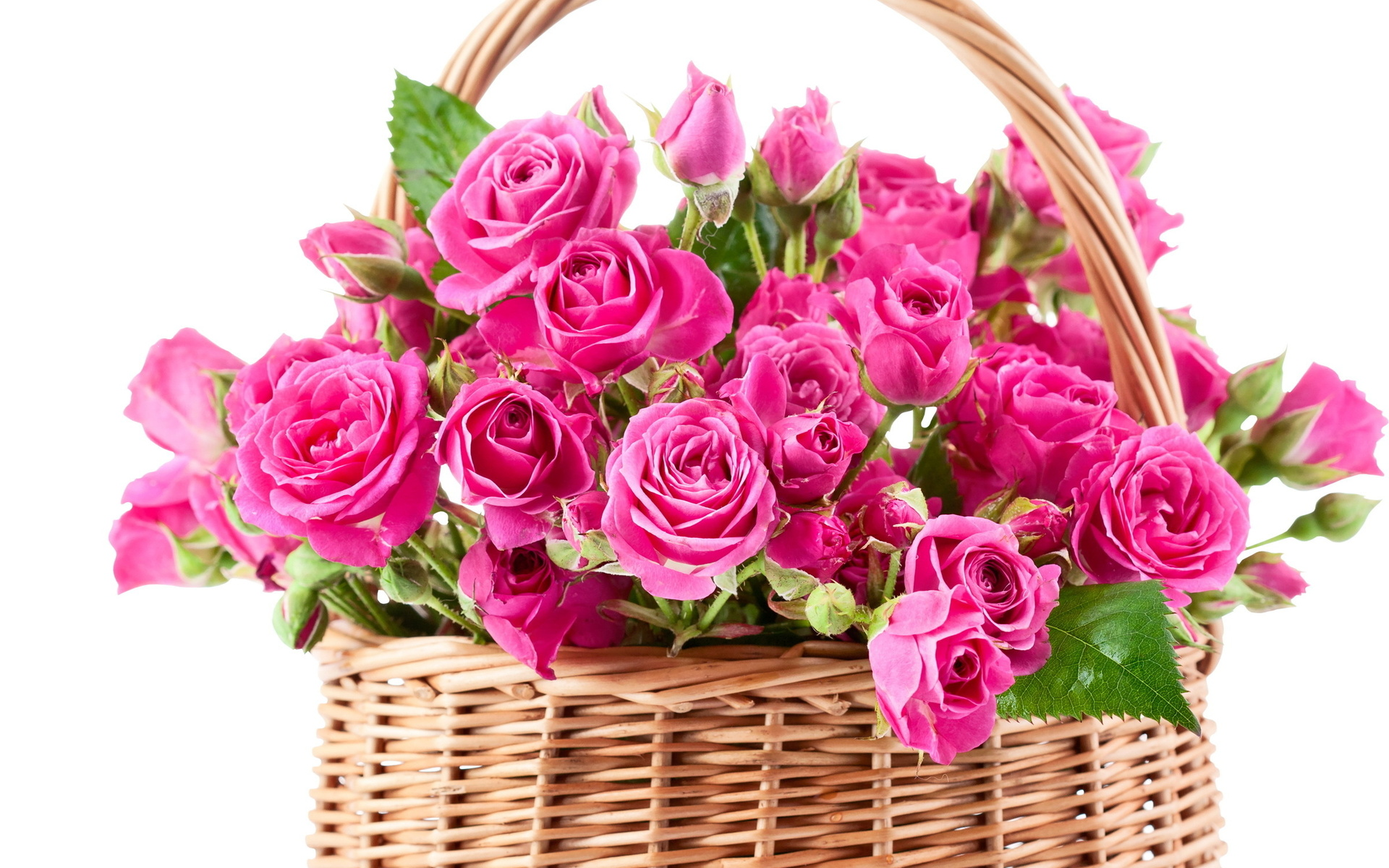 Bouquet pink beautiful flowers roses wallpaper 1920x1200 for Pink roses flower arrangements