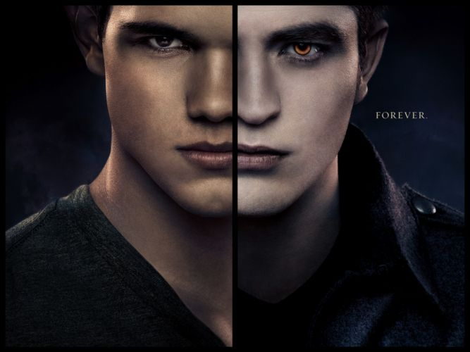 face vampires Twilight Saga Breaking Dawn Robert Pattinson Taylor Lautner Man Glance Face Movies Celebrities wallpaper