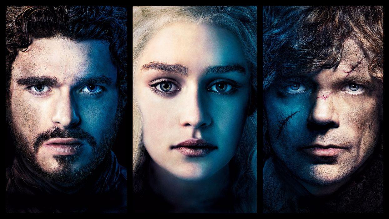 Game of Thrones Daenerys Targaryen Blonde Emilia Clarke Face Tyrion Lannister Peter Dinklage Rob Stark Richard Madden wallpaper