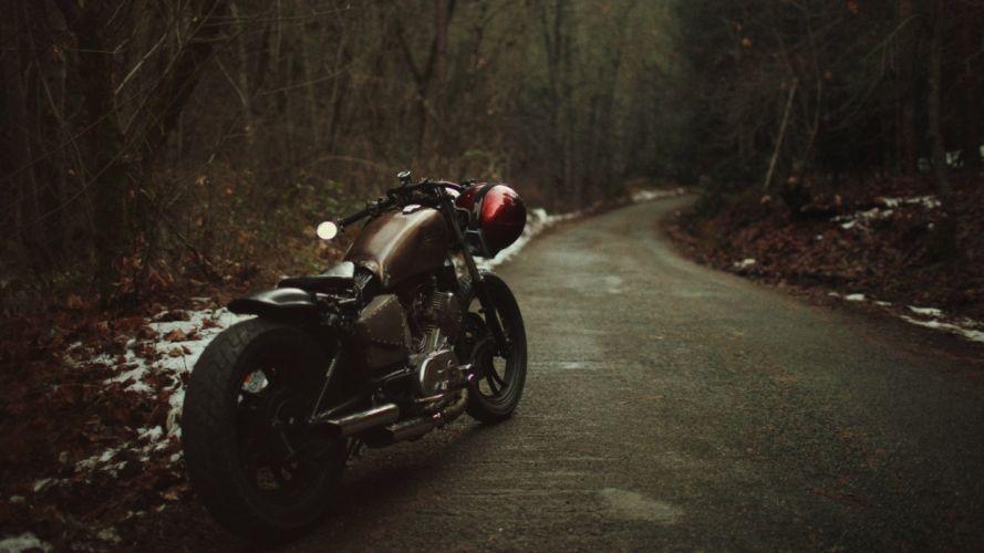 harley Motorcycle Road wallpaper