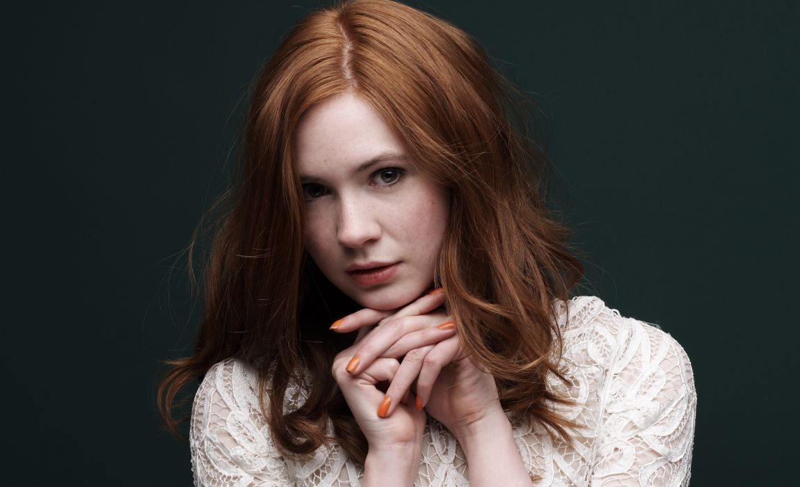 Karen Gillan Glance Face Hair Brown haired Celebrities Girls actress women females wallpaper