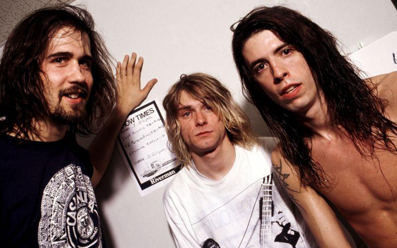 Kurt Cobain Nirvana Dave Grohl wallpaper