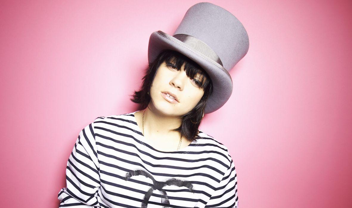 Lily Allen Hat Music Girls Celebrities women females wallpaper