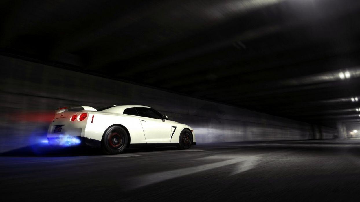 Nissan Skyline GTR Backfire Flame wallpaper