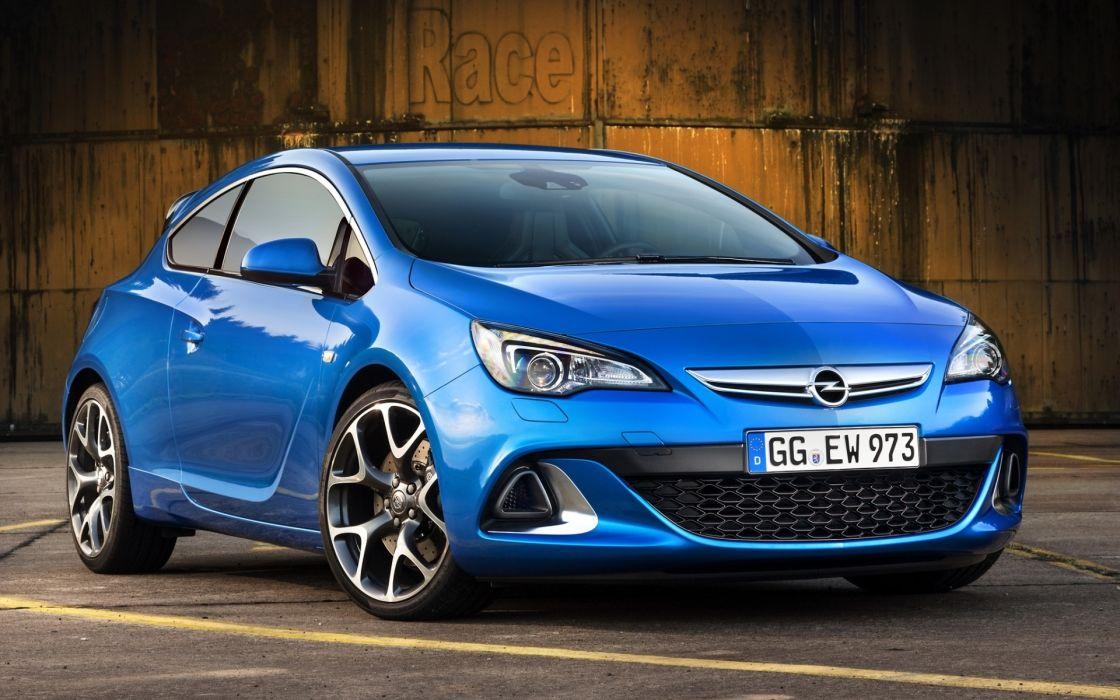 Opel front blue astra wallpaper