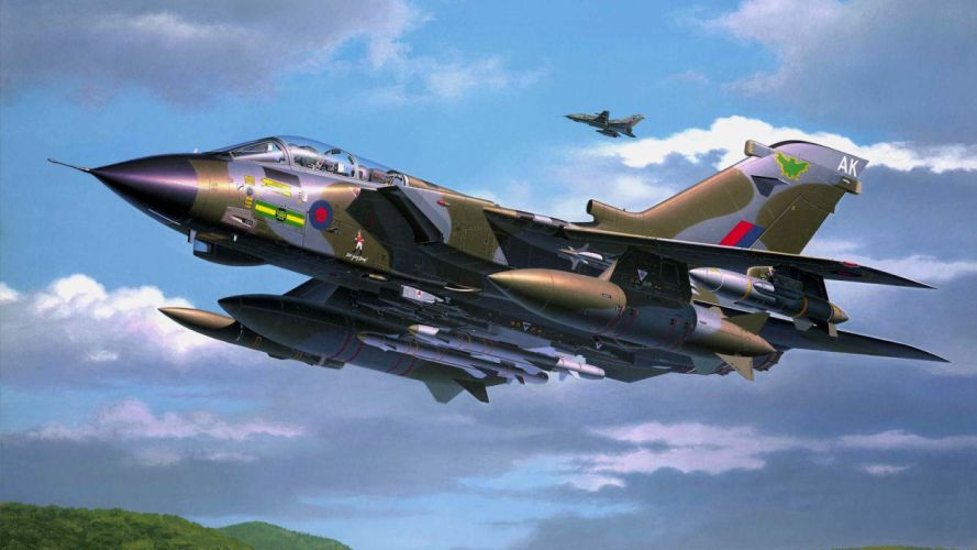 Panavia Tornado fighter bomber drawing art airplane wallpaper