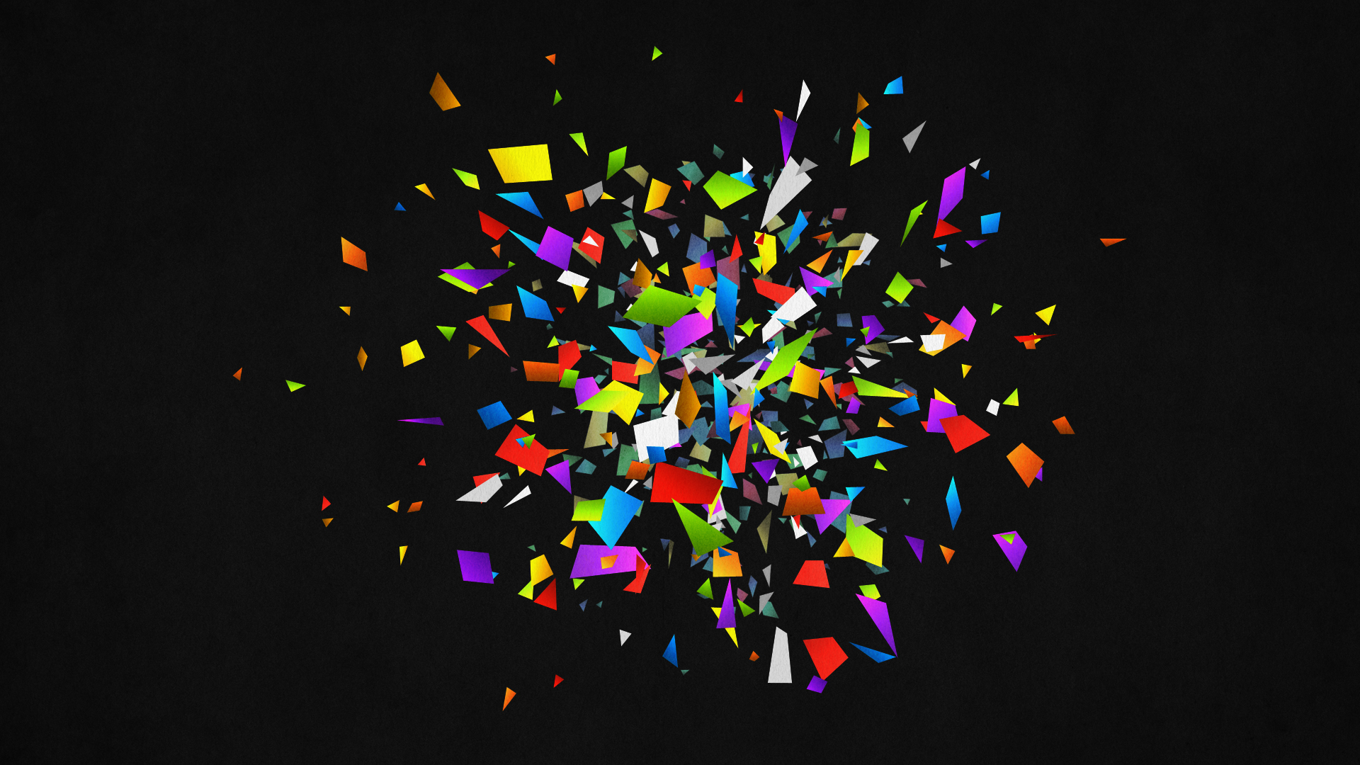 pieces abstract black color rainbow vector 3d wallpaper