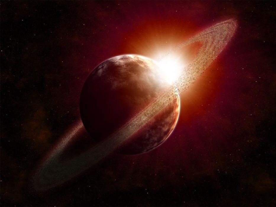 Planet Stars Starlight Debris wallpaper