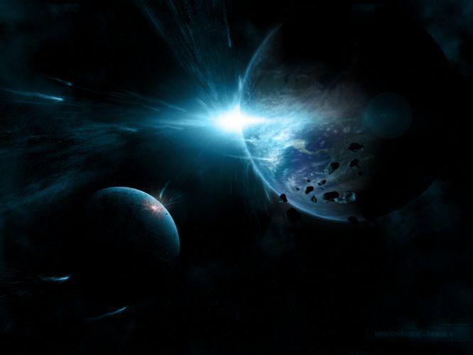 Planets Debris Starlight wallpaper