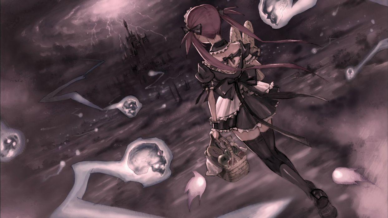 Queen's Blade Anime girl skull wallpaper