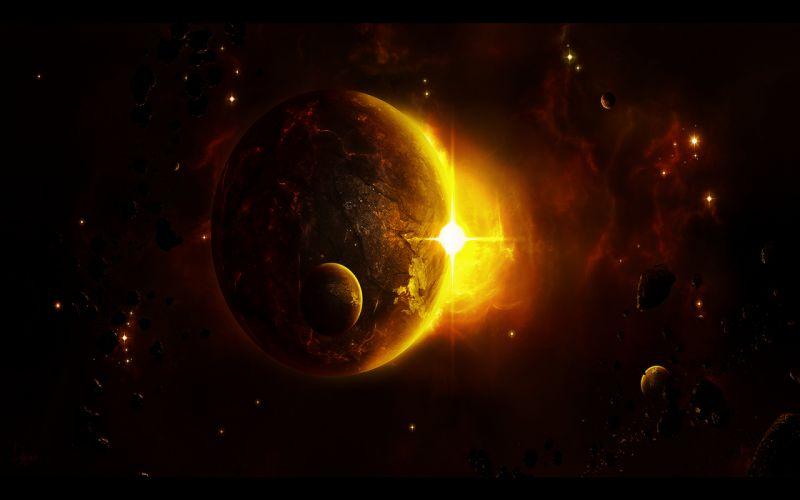 stars planets wallpaper