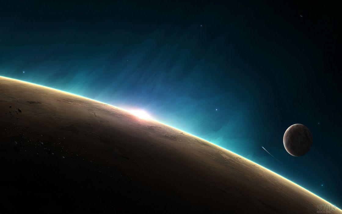 sun planets stars wallpaper