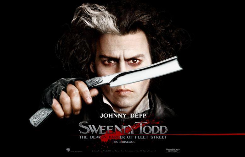 Sweeney Todd Johnny Depp Razor Black wallpaper