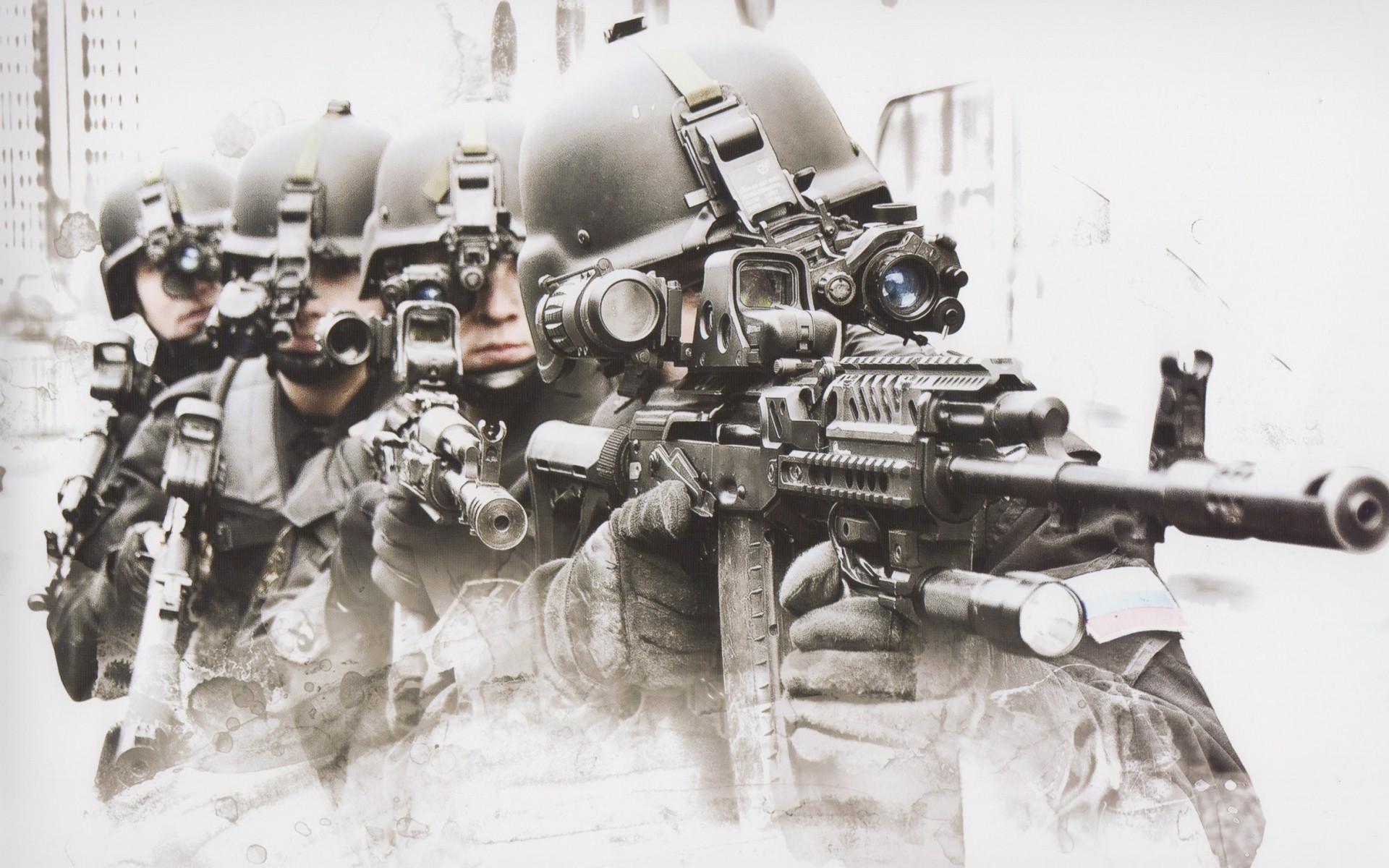 Soldiers special forces military ak 47 weapons guns wallpaper