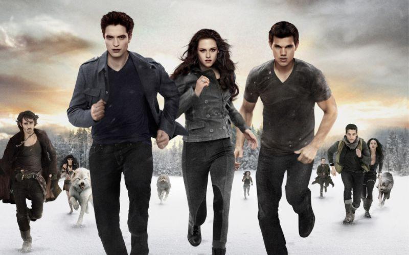 Twilight Saga Breaking Dawn Kristen Stewart Robert Pattinson Taylor Lautner Run Movies Celebrities vampire wallpaper