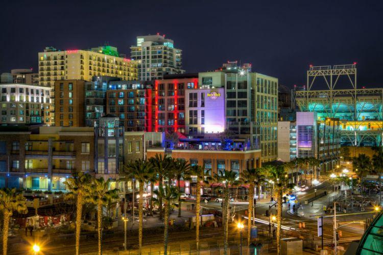 USA San Diego Palma Street Night California HDR Cities wallpaper