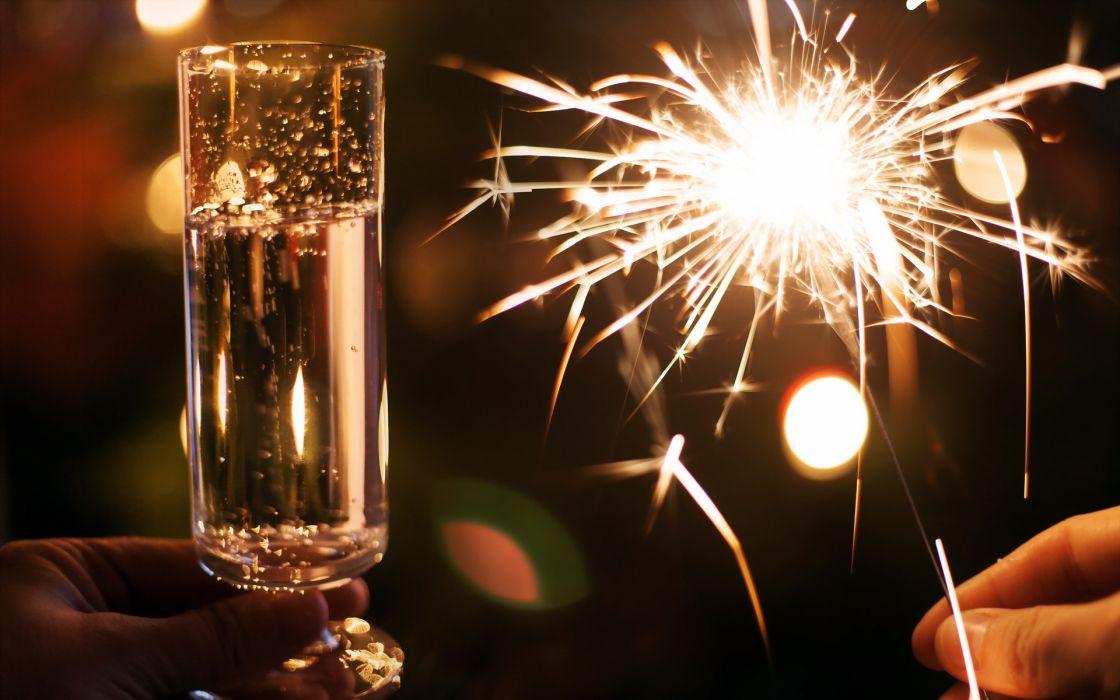 wine lights new year drinks fire wallpaper