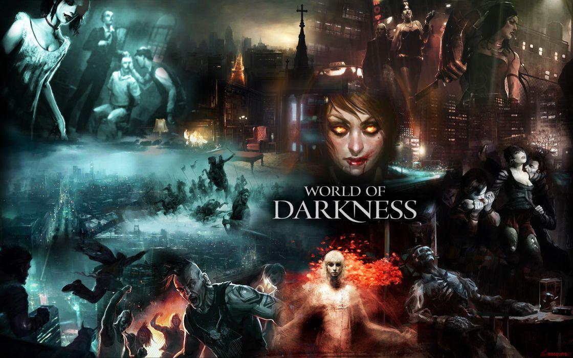 World of Darkness videogames horror dark wallpaper
