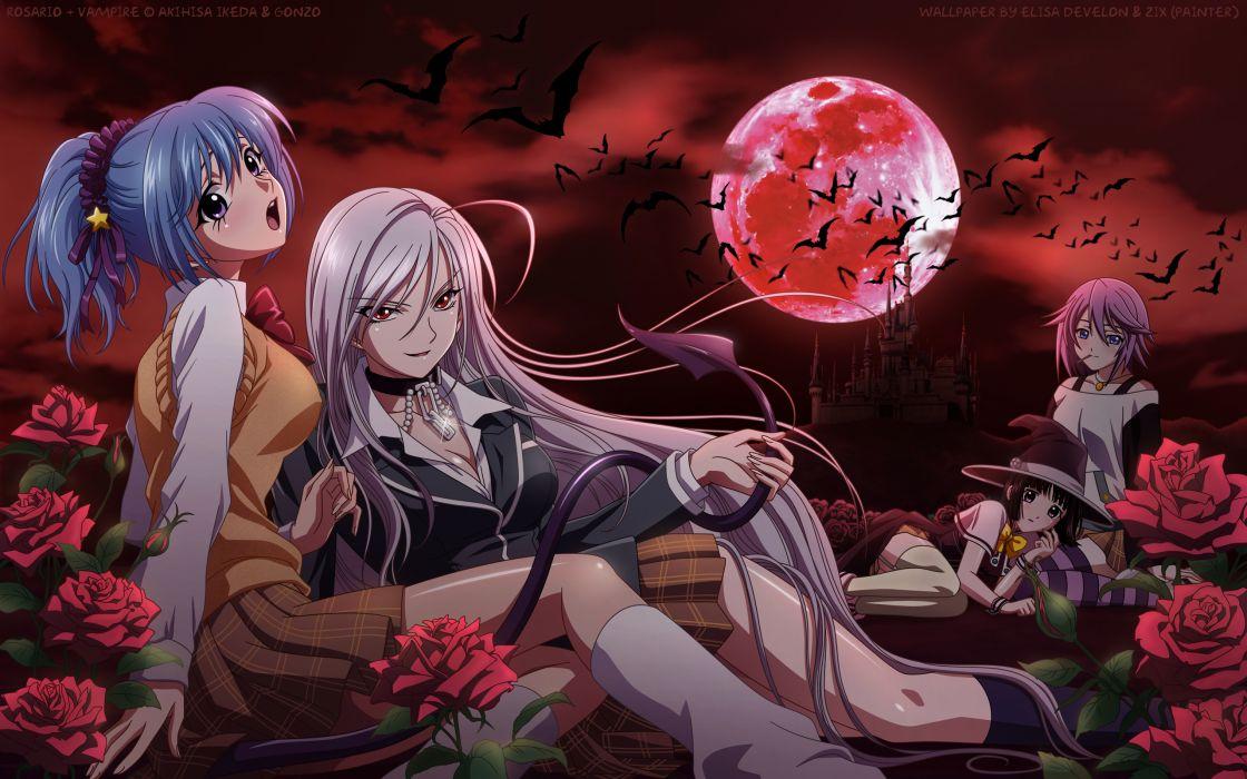 Rosario vampire wallpaper 2560x1600 51776 wallpaperup - Wallpaper vampire anime ...