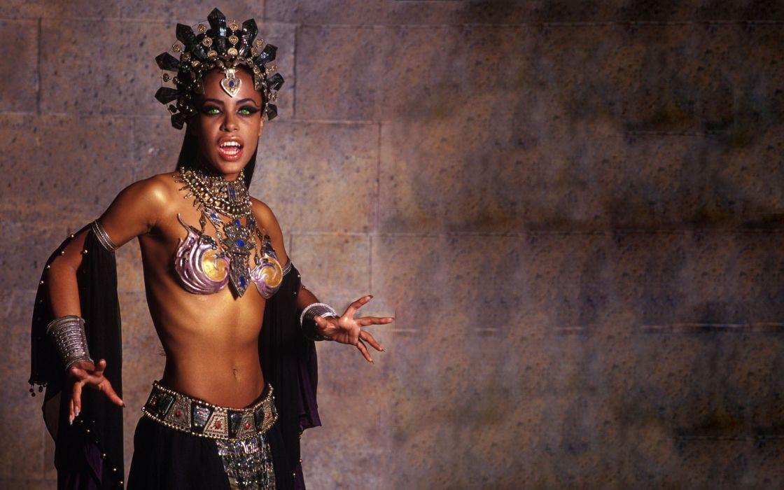 Aaliyah vampires movies music singer women females girls sexy babes ann rice wallpaper