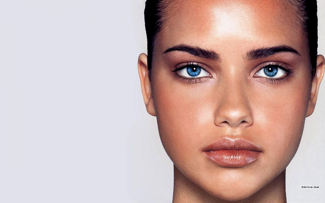Adriana Lima women sexy fashion models brunettes glamour babes face eyes       q wallpaper