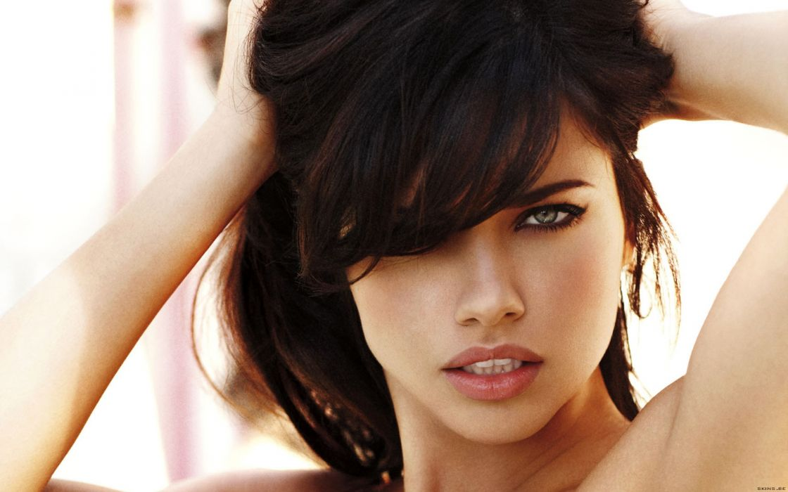 Adriana Lima women sexy fashion models brunettes glamour babes face eyes    n wallpaper