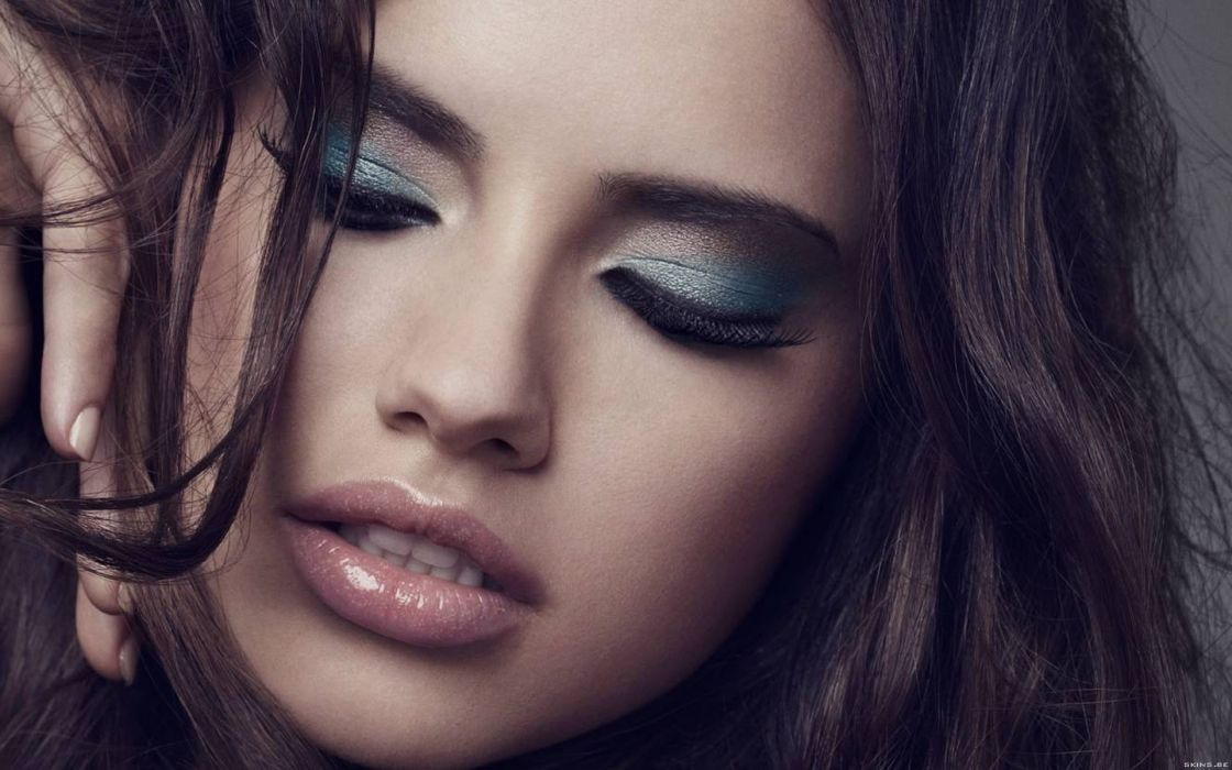 Adriana Lima women sexy fashion models brunettes glamour babes face eyes   r wallpaper