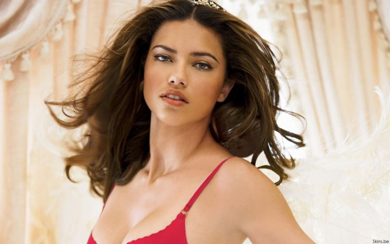 Adriana Lima women sexy fashion models brunettes glamour babes lingerie cleavage k wallpaper