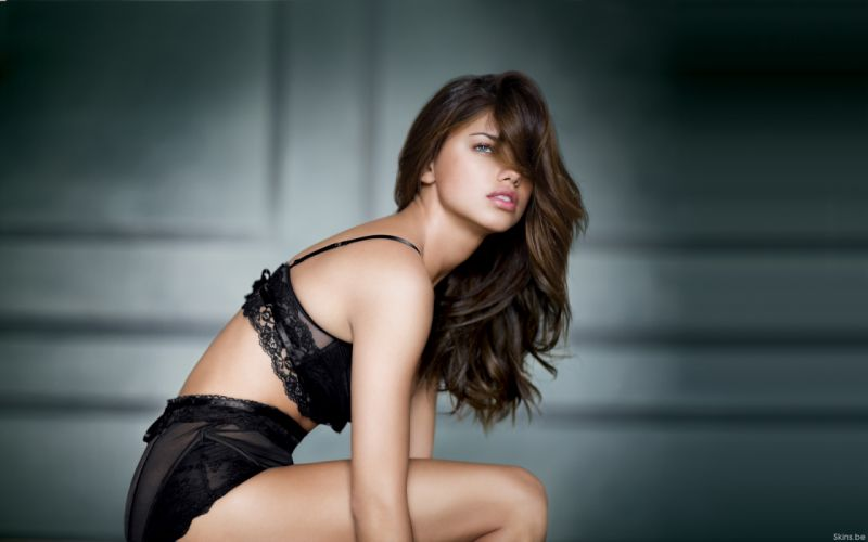 Adriana Lima women sexy fashion models brunettes glamour babes lingerie wallpaper