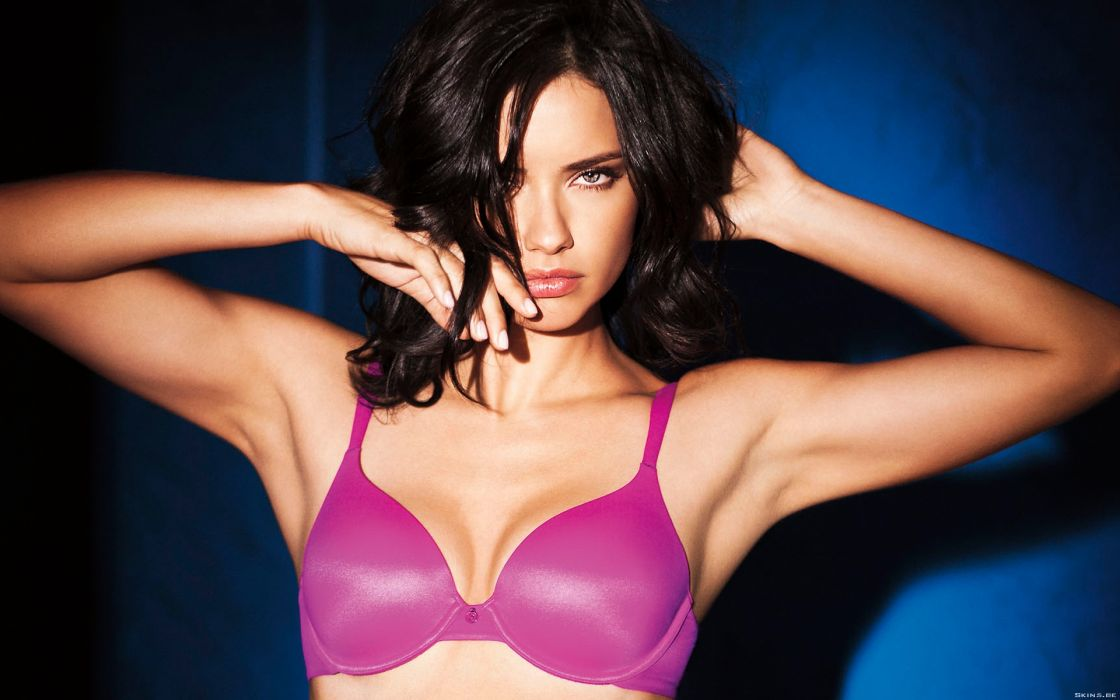 Adriana Lima women sexy fashion models brunettes glamour babes lingerie cleavage wallpaper