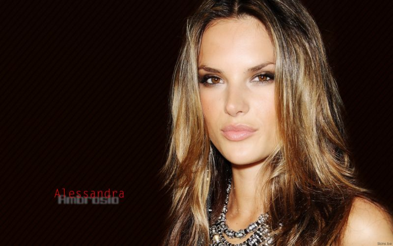 Alessandra Ambrosio fashion glamour model brunettes women females girls sexy babes face eyes wallpaper