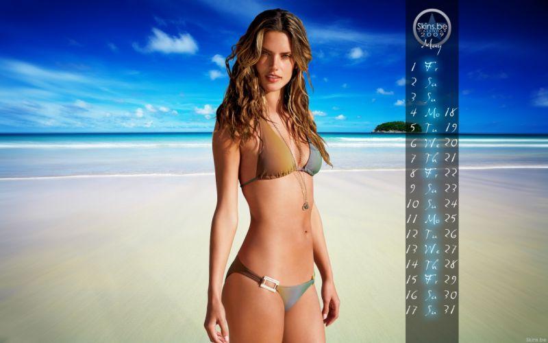 Alessandra Ambrosio fashion glamour model brunettes women females girls sexy babes swimwear bikini cleavage r wallpaper