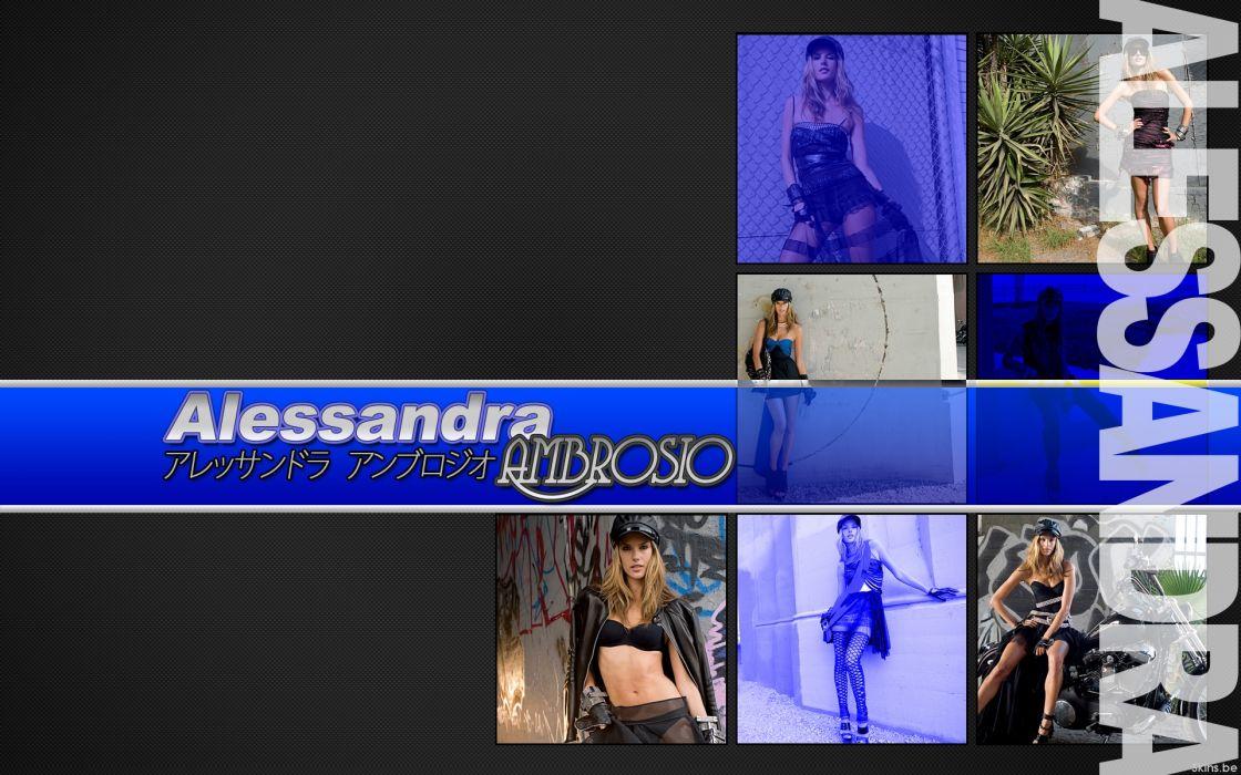 Alessandra Ambrosio fashion glamour model brunettes women females girls sexy babes          w wallpaper