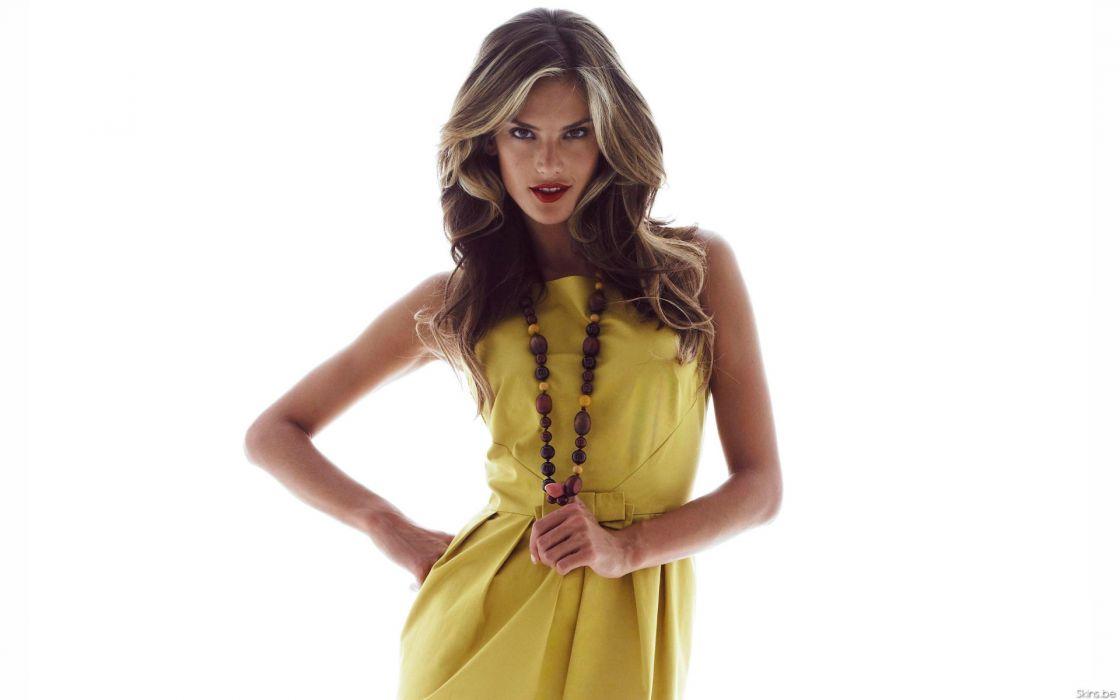 Alessandra Ambrosio fashion glamour model brunettes women females girls sexy babes         r wallpaper