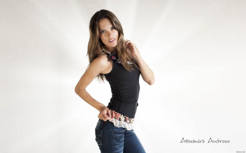 Alessandra Ambrosio fashion glamour model brunettes women females girls sexy babes z wallpaper