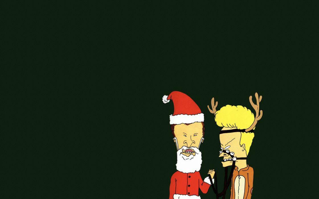 Beavis and Butt-head christmas humor cartoon wallpaper