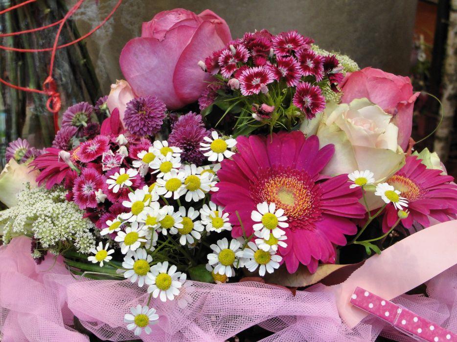 bouquet flowers still life wallpaper