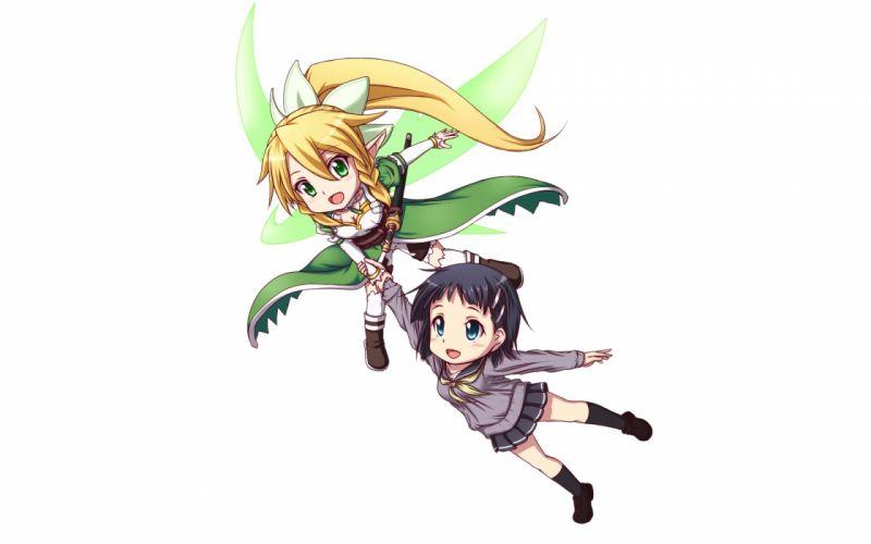 Anime White Sword Art Online SAO girls wallpaper
