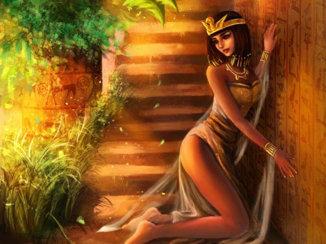 fantasy women females girls sexy babes egyptian legs art wallpaper