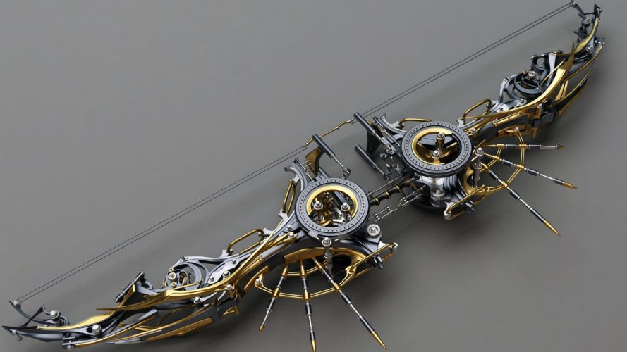 Composite Bow fantasy weapons steampunk sci-fi wallpaper