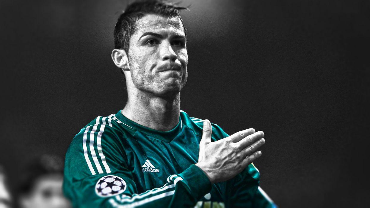 Cristiano Ronaldo Colorsplash Football Soccer men males face wallpaper