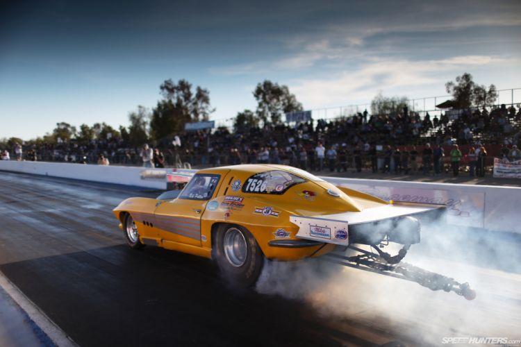 Muscle Car In Race