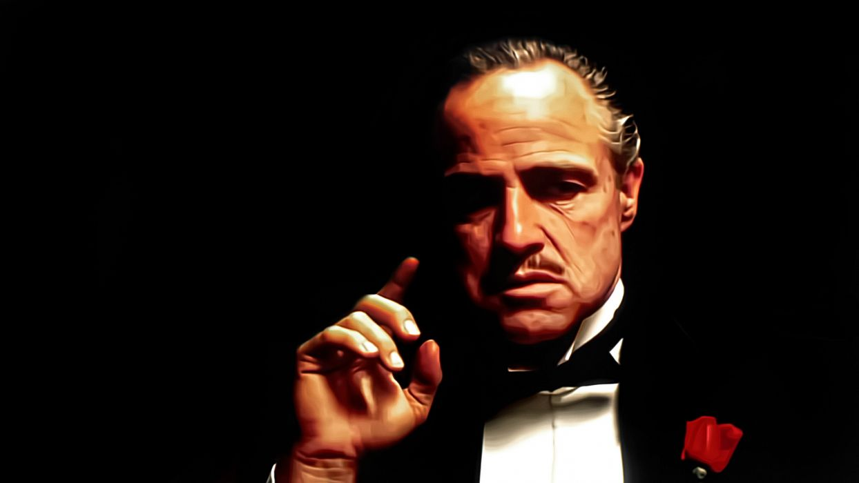 godfather Marlon Brando Corleone Vito movies mobsters mafia men males face wallpaper