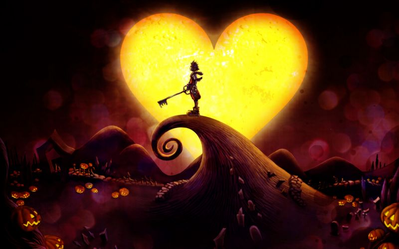 Kingdom Hearts halloween pumkins wallpaper
