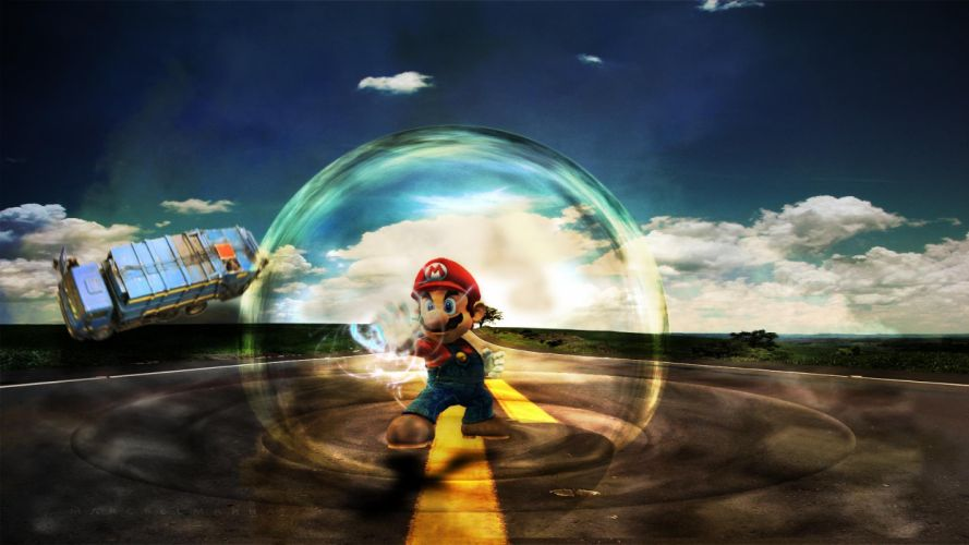 Mario Bubble roads wallpaper
