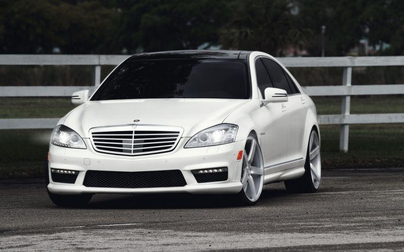 Mercedes benz tuning white wallpaper