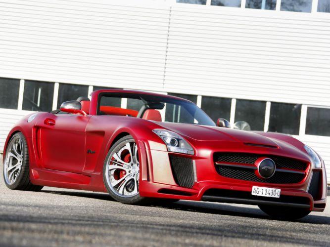 mercedes benz sls63 amg roadster tuning supercars wallpaper