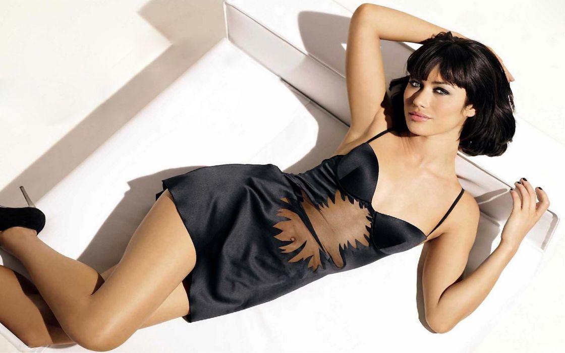 Olga Kurylenko model  actress fashion glamour women females girls brunettes legs face sexy babes wallpaper