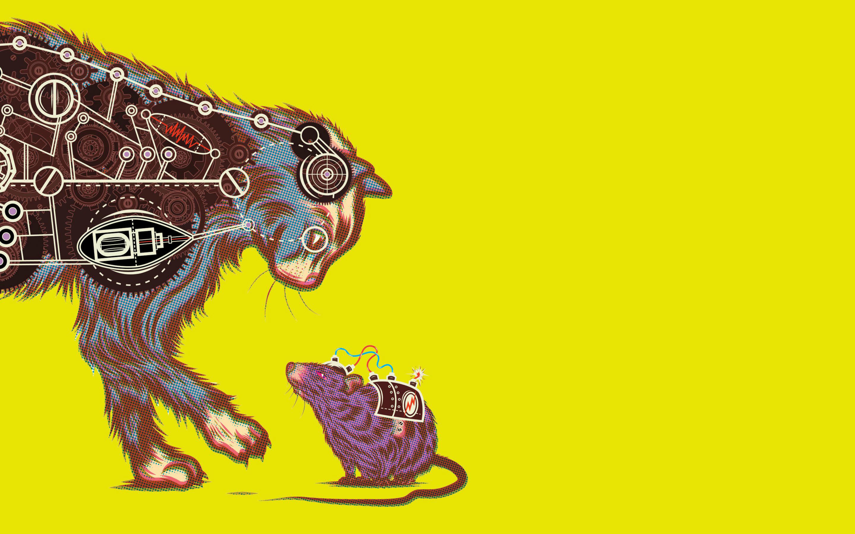 Sci Fi Humor Cats Mice Mouse Cartoon Schematic Wallpaper